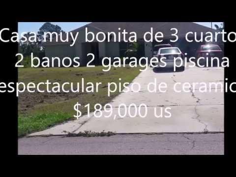 VENTA DE CASA BONITA MUY NUEVA ,CON PISCINA,LEHIGH ACRES,FL, $169,000 US DE 3/2/2,2950 FTS