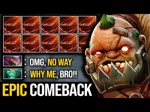 MORE THAN AN OFFLANER!!! King Potato Pudge GOD AND AN INCREDIBLE COMEBACK   Pudge Official