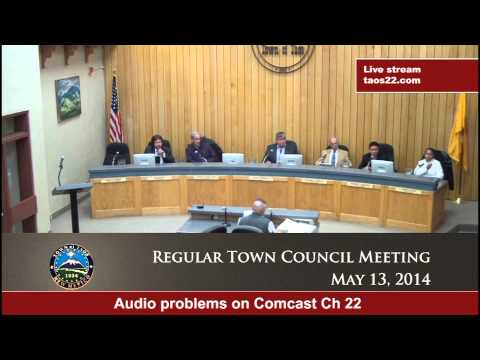 Regular Town Council Meeting - May 13, 2014