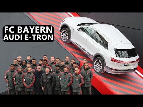 FC Bayern Munich Football Team Meets Audi e-tron