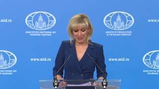 Брифинг М.В.Захаровой, 23 января 2019 года