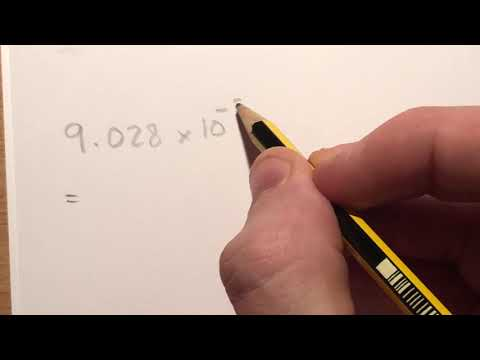Changing Values in Scientific Notation Back Into Small Numbers