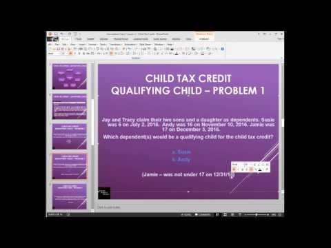 Tax Year 2016 - US Personal Income Tax - Intermediate Series - Lesson 2 Child Tax Credit