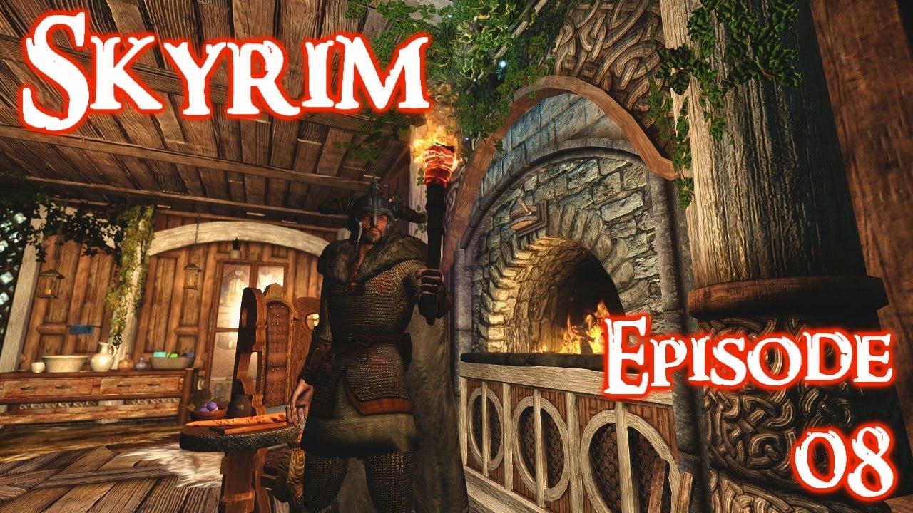 Skyrim Lets Play w/ Perkus Maximus 400+ mods Ep  08 Even more bandits