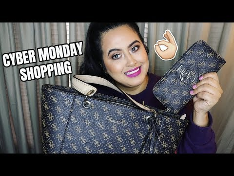 GUESS BLACK FRIDAY & CYBER MONDAY SHOPPING HAUL!! | GUESS KAMRYN TOTE & WALLET