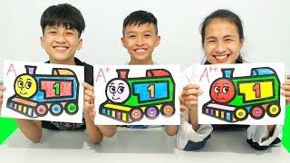 Rainbow Train, Warna-Warni Belajar Menggambar dan Mewarnai untuk Anak