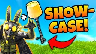 Fortnite MOTHMANDO SKIN, LAMP PICKAXE, - Wingback Back Bling Showcase! - Battle Royale Skins Examen