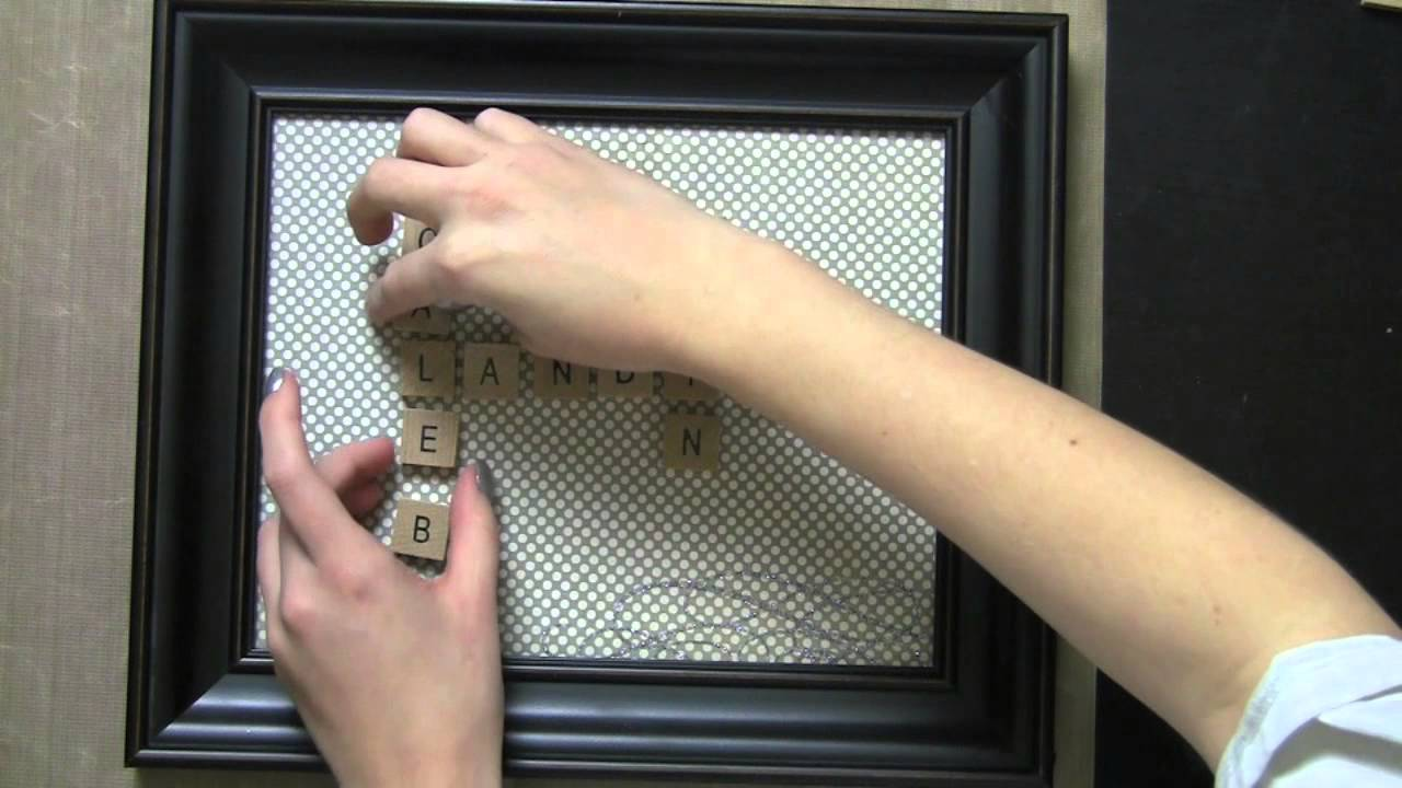 Easy Valentine S Gift Diy Scrabble Tile Home Decor Frame With