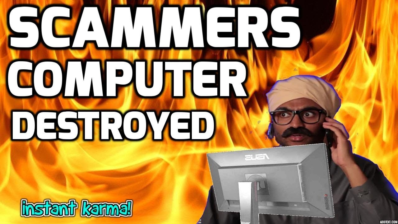 Destroying Scammers Computer - Revenge On Indian Scammer!