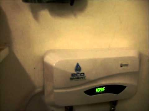 ecosmart tankless electric inline point of use water heater 5.5kw