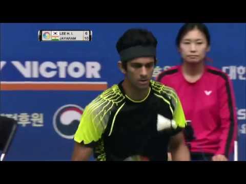 Victor Korea Open 2016 | Badminton QF M5-MS | Lee Hyun Il vs Ajay Jayaram