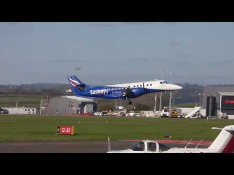Eastern airways Jetstream 41 departing from Cardiff on 27/10/17.