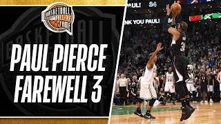 Paul Pierce Returns to The Game and Hits a Farewell Three Pointer in Boston | 02.05.2017
