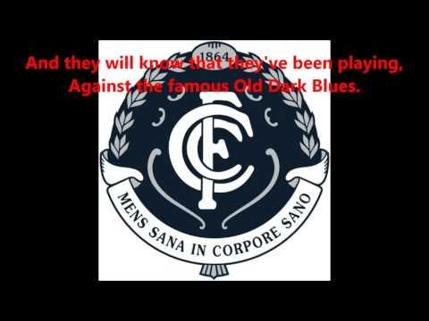 Carlton Blues theme song (Lyrics) AFL Sing-A-Long