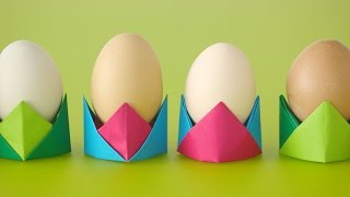 Origami Egg Cups