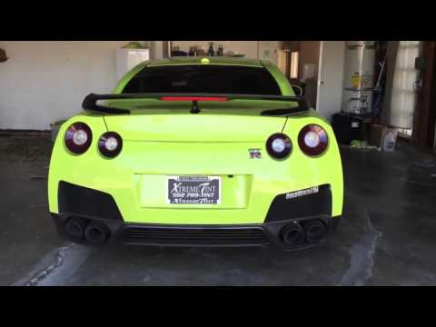Bryan Casella's Limegreen ARMYTRIX GT-R R35 Walk Around, Revs, Pulls and Tunnel Sounds