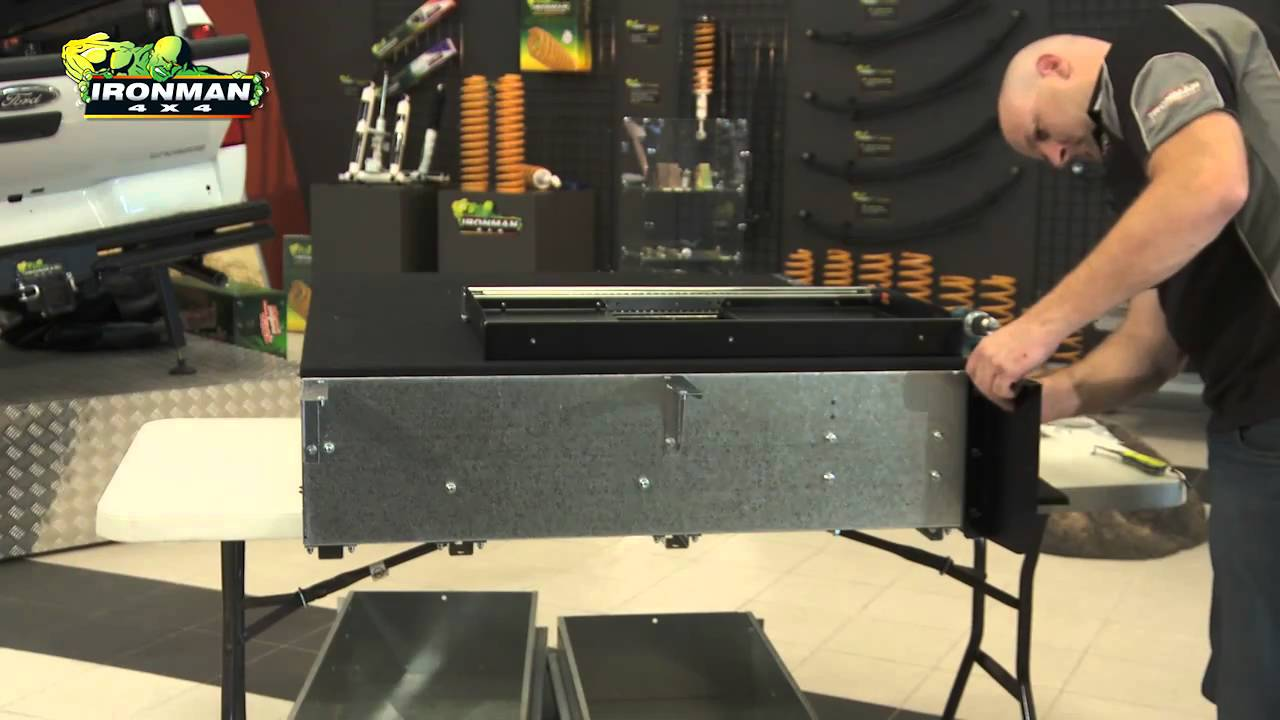 How To Install Ironman 4x4 Drawer System Wing Kit Youtube
