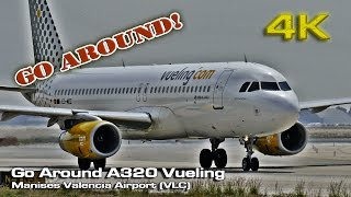 Valencia Go Around Vueling (Jet on Runway) [4K]