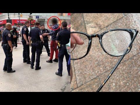 HE BROKE MY GLASSES (POLICE CALLED)