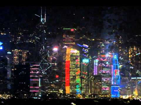 A Symphony of Lights in Downtown Hong Kong