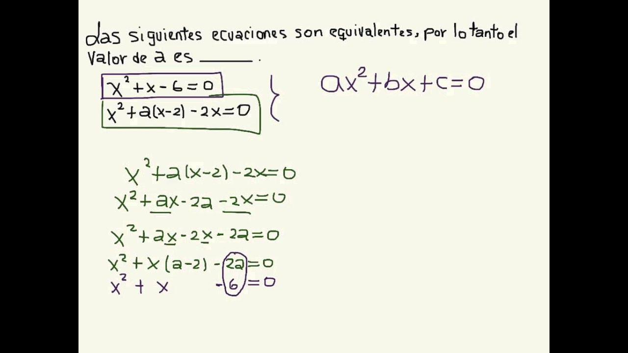 Ecuaciones Cuadráticas Equivalentes - 3º de secundaria - YouTube