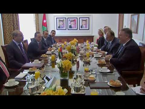 Secretary Pompeo Attends Working Breakfast with Jordanian Foreign Minister Safadi