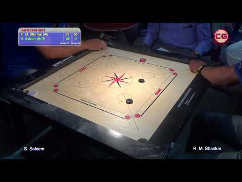 SF Set 2 R M  Shankar VS S Saleem 37th Karnataka Annual State Carrom Championship
