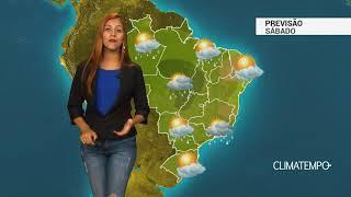 Previsão Brasil -Ar quente e úmido no BR