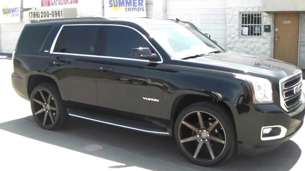 Direccion 24 Inch Dub Future Black Wheels 2015 Gmc Youtube