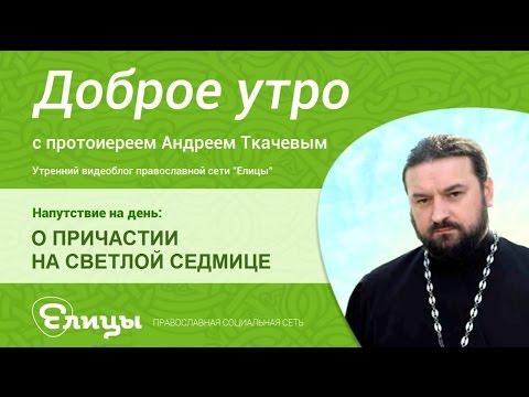 О Причастии на Светлой седмице. Протоиерей Андрей Ткачев. Поститься нельзя, а причащаться нужно