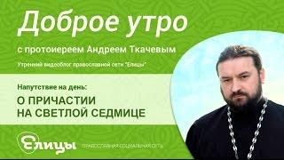 О Причастии на Светлой седмице. Протоиерей Андрей Ткачев. Поститься нельзя а причащаться нужно