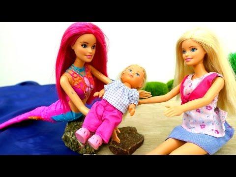 #Штеффи сбежала! Подводное ЦАРСТВО 💒#Барби РУСАЛКА спасает Штеффи. Игры Барби для девочек