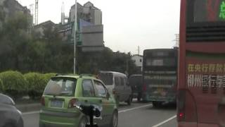 Liuzhou - drive from suburban cemetery to city center