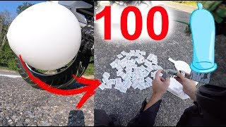 GONFLER 100 CAPOTES vs BALLON GEANT vs MOTO Yamaha XJ6 😂