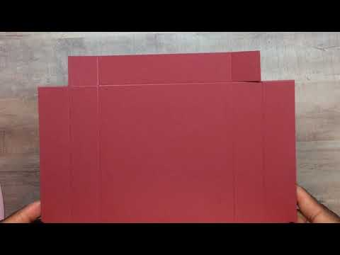 Tutorial: One Sheet Stationery Box (A2  Sized Cards) - SIMPLY SHANTA