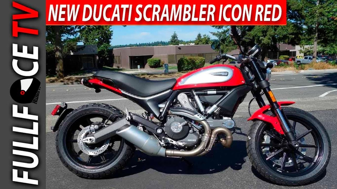 2017 Ducati Scrambler Icon Grey Red Review Youtube