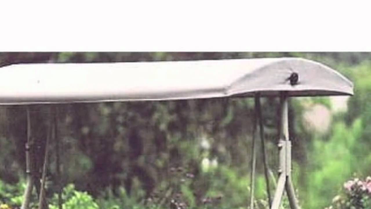 Lowes Garden Treasures 2 Person Sling Swing Replacement Canopy - YouTube  sc 1 st  YouTube & Lowes Garden Treasures 2 Person Sling Swing Replacement Canopy ...