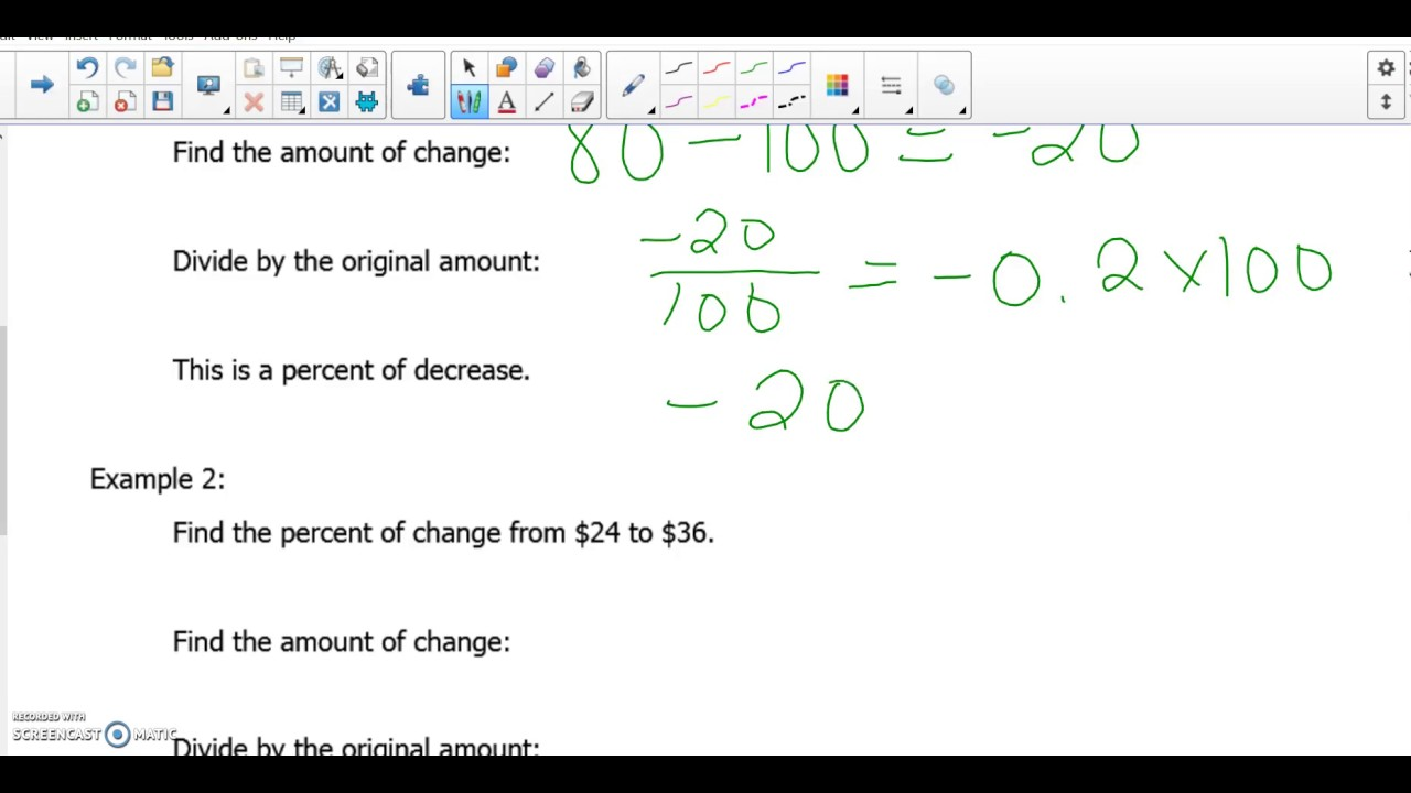 How To Find The Percent Of Change