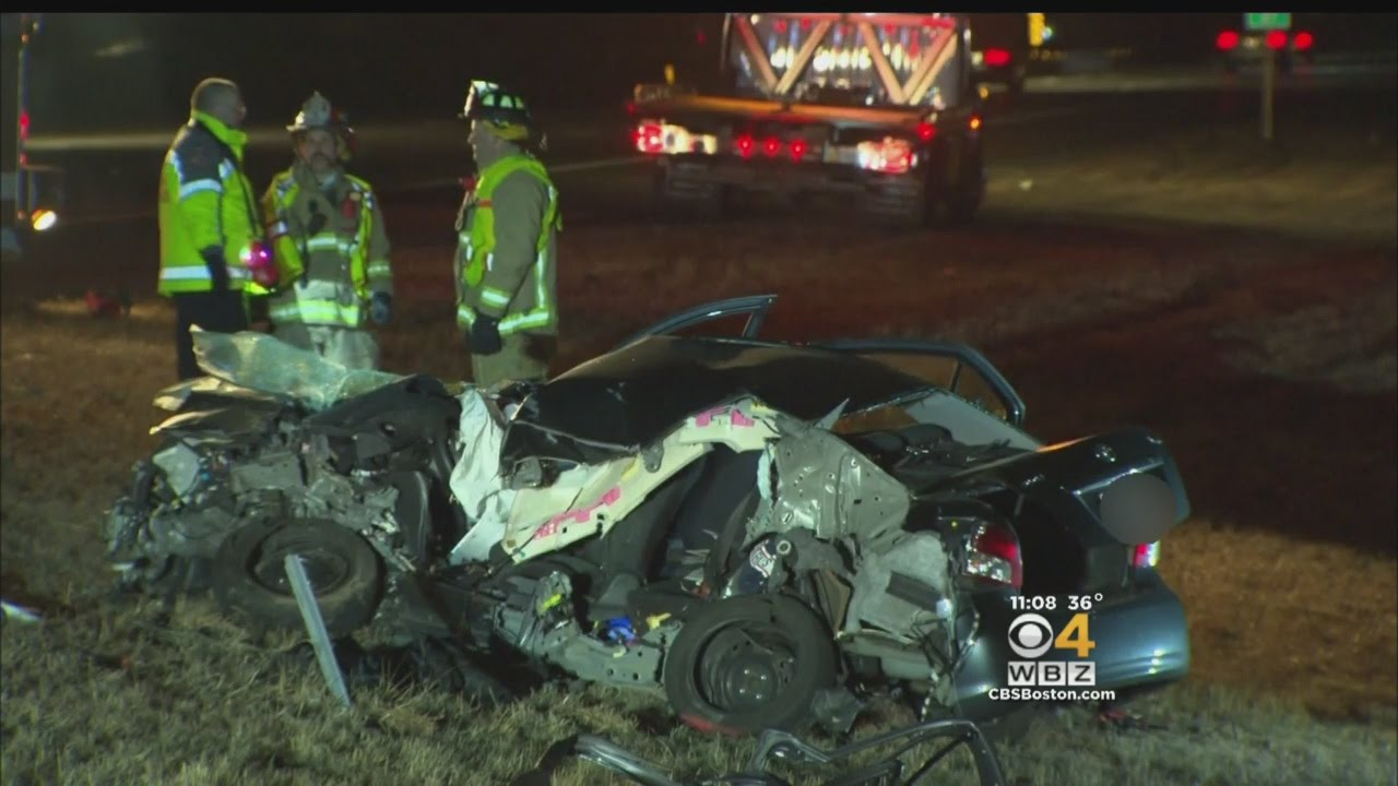 495 car accident  1 Dead, 2 Hurt In Two-Vehicle Head-On Crash On I-495 In Norton - YouTube