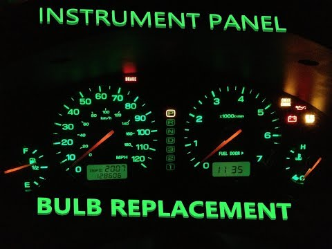 Subaru Outback Instrument Panel Light Replacement
