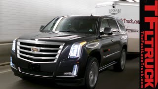 2015 Cadillac Escalade vs GMC Yukon vs Lincoln Navigator vs Ike Gauntlet Towing Test Review