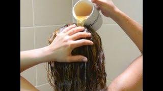 وصفة رائعة تلمع و ترطب الشعر التالف والمتقصف بمكونات متوفرة في كل بيت