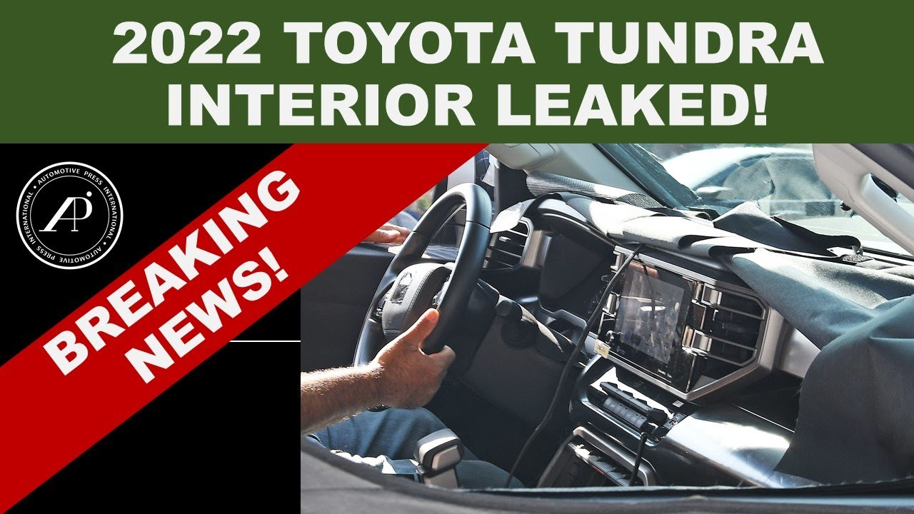 BREAKING NEWS! 2022 TOYOTA TUNDRA INTERIOR LEAKED FOR THE FIRST TIME! - New Leak Shows Complete Dash