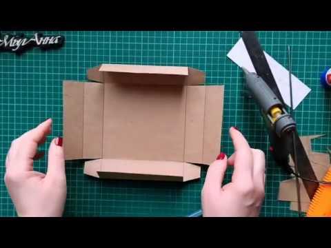 Как сделать квадратную коробочку из картона своими руками схема