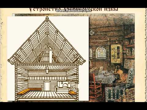 Как нарисовать старорусский дом