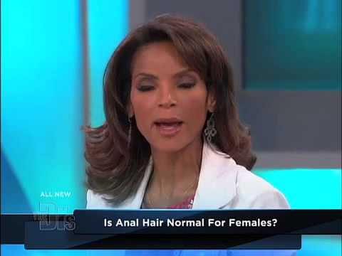 Normal woman hair anus