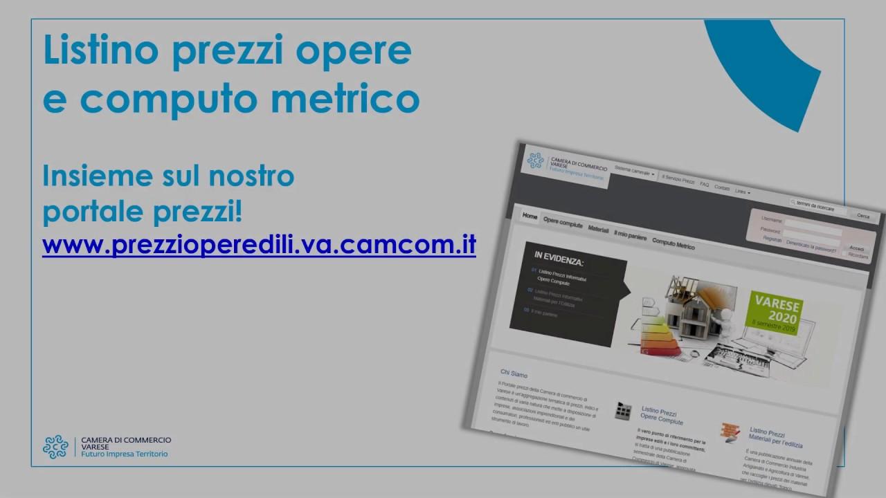 Imprese Edili Varese E Provincia home - il portale dei prezzi della camera di commercio di varese