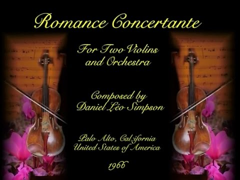 Romance Concertante for Two Violins & Orchestra ~ Daniel Léo Simpson