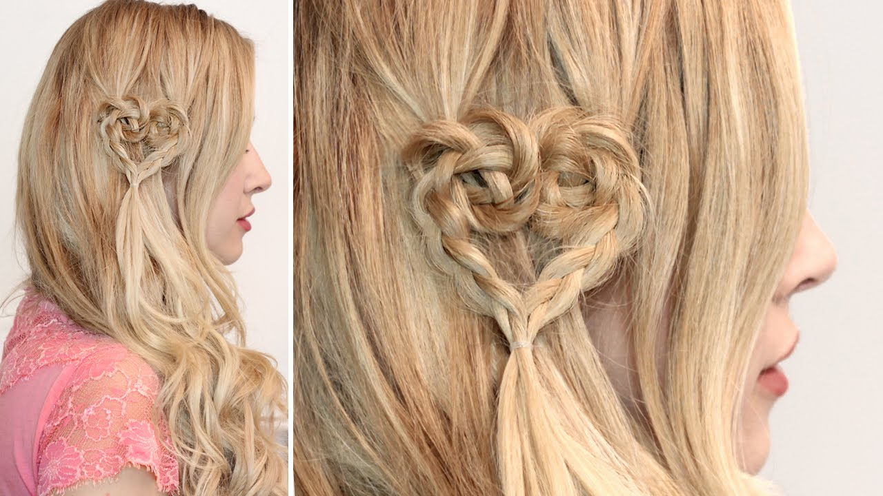 Braided Heart Hairstyle Cute Hair Tutorial For Short Medium