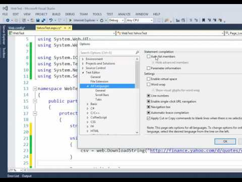 Visual Studio - Fix issue - Intellisense not working